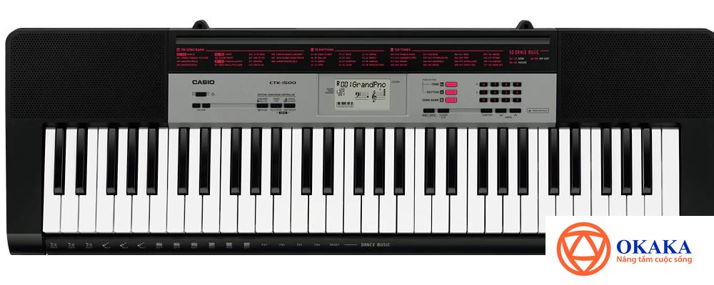 Đàn organ Casio CTK-1500 vừa ra mắt với tính năng mới cực kỳ hấp dẫn Dance Music sẽ giúp buổi học nhạc của bạn thêm phần sôi động.