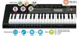 Đàn organ Casio CTK-2500 hỗ trợ học đàn trên thiết bị thông minh